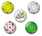 Le Tour de France 2014 25mm button pin badge Yorkshire Rose, Leeds, Harrogate