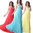 STOCK New Formal Long Evening Ball Gown Party Prom Bridesmaid Dresses Size 6-20
