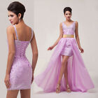 FREE SHIP~ Magical Long/short Evening Ball Gown Party Prom Bridesmaid Dress 6-20