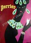 Vintage rare Perrier ad print poster, large 4 sizes available