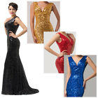 Bling Sexy Lady Mermaid Formal Evening Long Gown Wedding Prom Bridesmaid Dresses