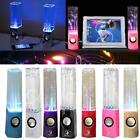 Newest!2x Stereo Music LED Dancing Water Fountain Light Speakers for iPad iPhone