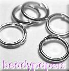 1000 Round Open Jump rings 7 mm Platinum Colour Nickel Free Findings 4013