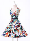 LA SALE Rockabilly 50's Vintage Floral Tea Party Evening Swing Pin Up Prom Dress