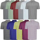 Ashworth Mens Short Sleeve Pencil Stripe Golf Polo T Shirt - Medium
