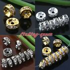 100x Crystal Rhinestone Spacer Loose Beads Findings For Bracelet Chain 6 8 10mm