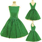 Vintage Dress Dancing Party Rockabilly Swing Jive Spot Dot 50s 60s Cotton Skirts