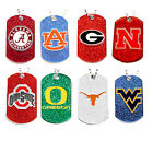 glitter dog tag necklace NCAA PICK YOUR TEAM