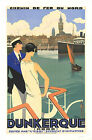 Vintage Dunkerque Maritime travel print poster-large 4 sizes available
