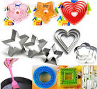 Fondant Cake Cookie Cutters Cake Egg Mousse Mould Ring Baking Tool Heart/Star #F