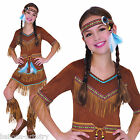 Childs Girls Native American Indian Princess Wild West Fancy Dress Costume