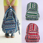 Unisex New Printed Bohemia Backpack Canvas Retro Rucksack School Bags ZF0011