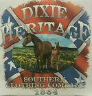 DIXIE HERITAGE HORSES REDNECK REBEL SOUTHERN SHIRT #2626