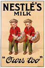 Nestle's Milk Vintage advertisement print poster, 4 sizes available