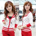 Casual Preppy Style Womens Outerwear Knitting Knit Top Sweater Cute Hearts 4844