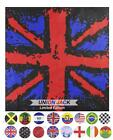 UK, St George, Irish Flag Cotton Bandana for wearing head or neck