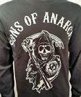 Sons Of Anarchy Soa Grim Reaper Logo Redwood L/S Long Sleeve Shirt Size S-3Xl
