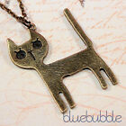 VINTAGE STYLE PUSSY CAT NECKLACE CUTE KITSCH KITTY PET ANIMAL CHARM EMO PENDANT