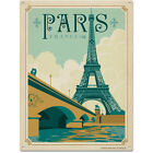 Paris Eiffel Tower Metal Sign