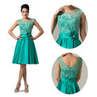 Attractive Lace Formal Ball Dancing Gown Evening Prom Cocktail Party Stain Dress