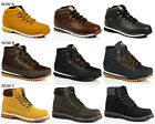 MENS CASUAL FAUX  LEATHER MID LACE HIKING TREKER COLLAR ANKLE BOOTS SHOES SIZE