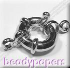 1 - 5 Platinum Plated Chunky Bolt Ring Spring Clasp Jewellery 16 mm 3004