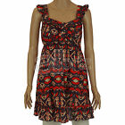 New Ladies Womens John Rocha Red White Blue Tunic Dress Top Size 8 10 12 Cotton