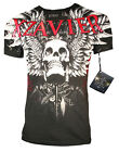 XZAVIER COLLECTION FEARLESS FLIGHT T SHIRT WINGED SKULL URBAN  WARRIOR BATTLE