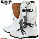 WULFSPORT KIDS LA BOOT MX MOTOCROSS OFF ROAD TOECAP RATCHETS YOUTH JUNIOR WHITE