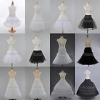 White/Black Retro Petticoat Bridal Slips Rockability TUTU Underskirt Kids Adults