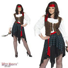 FANCY DRESS COSTUME # ADULT PIRATE WOMAN BUCCANEER WENCH SIZE 8-26