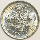 Coin Golf Ball Marker - British Sixpence Marker Your Choice of Date 1947 to 1967