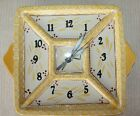Temp-tations Ceramic Stoneware Clock Old World Floral Lace Square