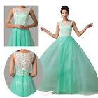 Lace + Satin *Long Wedding Prom Gown Evening/Formal/Party/Cocktail/Prom Dresses
