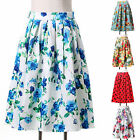 Womens Vintage Rockabilly 50's pinup Summer Retro Prom Evening Party Dress Skirt