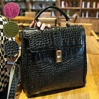 Women's shoulder bag backpack handbag Faux Leather crocodile pattern ZF0019