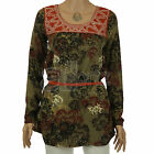 New Ladies Womens ex Next Rust Khaki Tunic Top Smart Casual 10 12 14 16 18 20