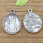 6pcs tibetan silver color religious noter dame charms EF2231