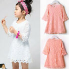 Hot Sale Kids Girls Toddler Baby Lace Princess Party Dresses Skirt Clothes