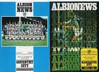 West Brom WBA HOME programmes 1976/77 FREE P&P UK Choose from list