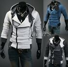 Winter Men Slim Zip Hat Hooded Hoodies Jackets Coats Tops 3Color M~XXL F1638 FTS