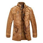 new winter Mens Air Force pilot pu leather fur lining thick jacket coat outwear