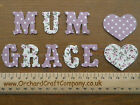 3cm Iron On Fabric VINTAGE STYLE Letters/Numbers (10)  Floral/Dotty Applique.