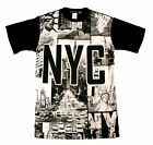 KONFLIC NEW YORK CITY T SHIRT  ALL NIGHT OUT  SUMMER GUNS OUT URBAN MENS WEAR