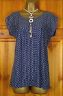 NEW WHITE STUFF LADIES SLATE GREY BLUE PURPLE STRETCHY JERSEY SUMMER TUNIC TOP