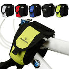 DISCOUNT~Cycling Bike Bicycle Double SADDLE Pannier Frame Front Tube Bag 600D