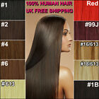 UK STOCK Real Remy Human Hair Clip in Hair Extensions Full Head