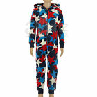New Boys Girls Childrens ex Next Fleece Hooded All In One Sleepsuits Pyjamas