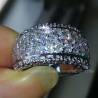 Size 5/6/7/8/9/10 jewelry white topaz 10kt white gold filled women Wedding Ring