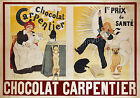 Vintage Chocolat Carpentier French Ad print poster, large 4 sizes available
